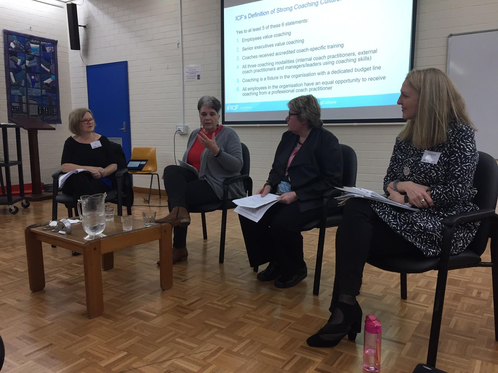 ICF/AHRI panel on coaching and change June 2019